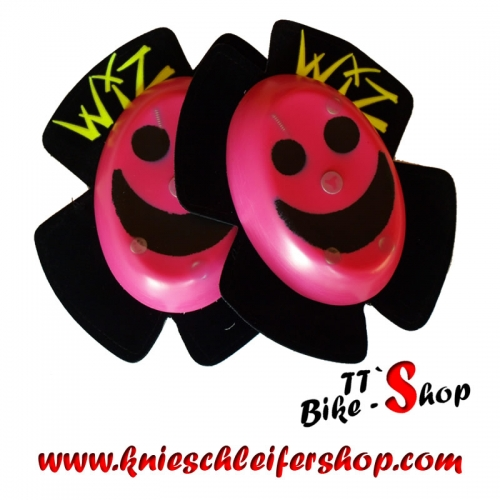 Wiz Knieschleifer, Smiley in Pink-Schwarz - Sparky